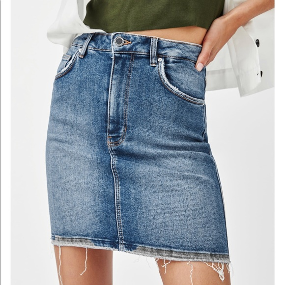 7cd3da2e761c Zara Skirts   High Rise Stretch Denim Mini Skirt   Poshmark